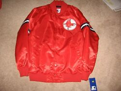 Brand New Boston Red Sox Throwback Starter Dugout Jacket Men`s Large