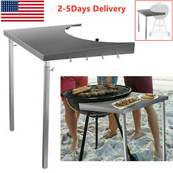 Us Foldable Grill Workbench Fits18andrdquo Weber Charcoal Grills Weber Grill Table Bbq