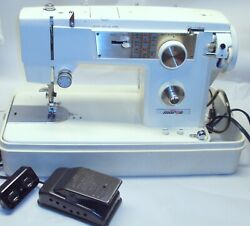 Morse 300-f Sewing Machine Zig Zag Heavy Duty Vintage + Case, Pedal, Japan Made