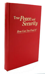 Watch Tower Bible And Tract Society True Peace And Security - How Can You Find It