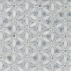 Victoria Grey Blossom With White Marble Mosaic Wall Tile - 26 Sq. Ft.