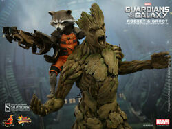 Hot Toys Rocket Groot Sideshow Exclusive Brand New