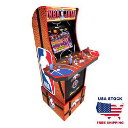 Nba Jam Retro Arcade Game Cabinet With Riser Light Up Marquee And Wifi