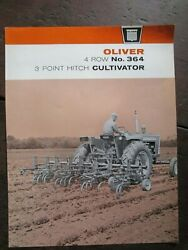 Original Brochure For Oliver 4 Row 364 3 Point Hitch Cultivator Nice Shape
