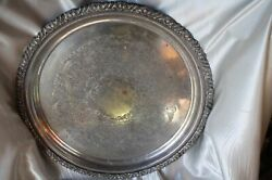 Vintage 1960 Hecworth Reproduction Old Sheffield Silverplate Serving Dish Tray