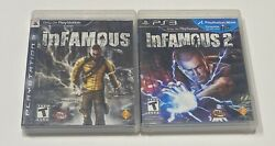 Infamous 1 And 2 Playstation 3 Ps3 Collection Tested Video Game Lot Bundle