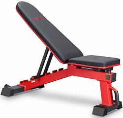 Deracy Adjustable Weight Bench For Full Body Workout, Incline And Decline Weight