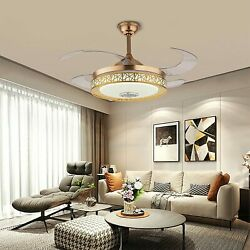 42 Bluetooth Ceiling Fans Light With Remote Birdand039s Cage Ceiling Chandelier Fan