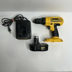 Dewalt Dc 970 18v Cordless Drill 1/2 Tool With Charger And Battery Bundle