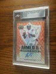 2021 Leaf Metal Draft Justin Fields Autographed Armed And Dangerous 1 / 1 Proof