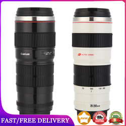 400ml Camera Lens Shaped Stainless Steel Water Cup Coffee Tea Mug With Lid