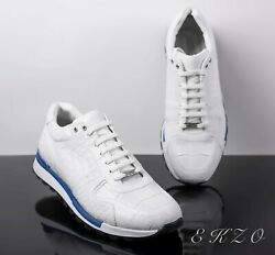 Ekzo Men Sneakers With 100 Crocodile Leather Real Price 3100 By Order