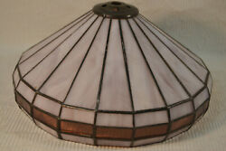 Small Vintage Stained Glass Lamp Shade