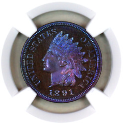1891 Pf66 Bn Ngc Indian Head Penny Premium Quality Proof Example