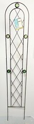 Arcadia Garden Products Tr02 Arched Garden Trellis 5and039 X 10 Black New In Box