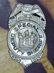 Antique Obsolete New Jersey Special Deputy Sheriff Police Badge - Pin Back
