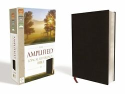 Amplified Topical Reference Bible-black Bonded Leather