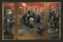 Gabz Lord Of The Rings Lotr Gold Foil Variant Movie Poster Sold Out