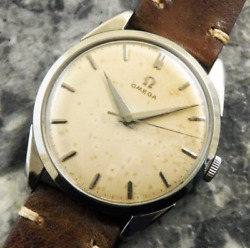 Antique Omega 30mm Caliber Dauphin Hand Winding 1957 Watch Menand039s Used