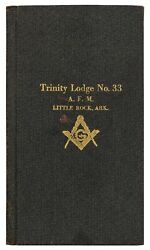 Freemasonry Financial Card By-laws And Membership Roll Trinity Lodge Number 1st
