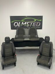 12 15 Camaro Zl1 Front Rear Driver Passenger Power Suede Leather Seats Gm 82k