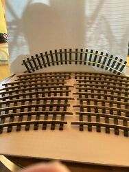 Lgb G Gauge 12 Curved Sections 1100 Brass Track Used