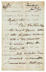 George Francis Robert Harris / Important Autograph Letter Signed