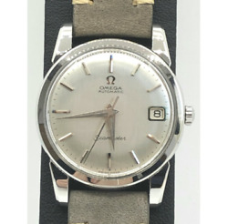 Antique Omega Seamaster Date 166.009 Silver Automatic Watch Used