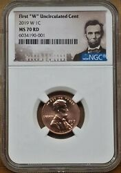 2019 First W Uncirculated Lincoln Cent Ms70 Rd Lincoln Label Extremely Rare