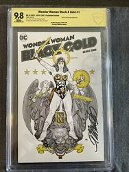 Wonder Woman Black And Gold 1 Cbcs 9.8 Nycc 2021 Frank Cho Sign Variant Nm 3000