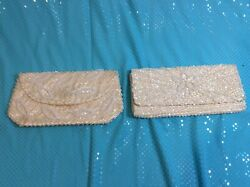 Lot of 2 Vintage Evening Bags Beaded Sequined Bag By Debbie $9.00