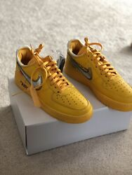 Off White Air Force 1 Lemonade Menandrsquos Size 9 Dd1876-700 Ready To Ship