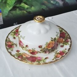 Royal Albert Old Country Roses Lidded Butter Dish
