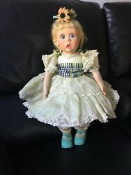 Fabulous Antique Lenci Character Felt Doll With Glass Side Eyes