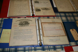 Vintage Invoice/bill Head Collection Gas And Oil Hardware Stores Sears Etc