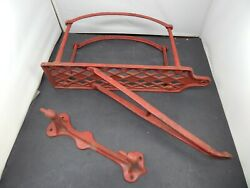 Antique 1910 Cast Iron Swiveling Hose Rack From Horse-drawn Fire Engine
