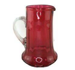 Fenton Glass Pitcher - Cranberry / Ruby Red - American Collectible Glassware
