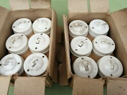 5 X Crabtree 1930 / 40s Ivory Bakelite Light Switches All 2way New / Old Stock