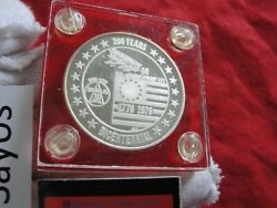 Boeing Limited Ed 200 Yr Bicentennial .999 Pure Silver Art Round 1 Troy Ounce