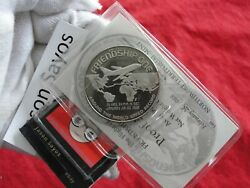 Boeing 747 Around The World Speed Record .999 Pure Silver Art Round 1 Ounce Rare