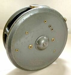 Attention Hardy St. George 3 34 Old Antique Reel Rhw With Agate Line Guide A
