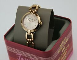 New Authentic Fossil Kerrigan Crystals Rose Gold Womenand039s Bq3206 Watch