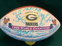 Green Bay Packers Super Bowl Xxxi Signed Football- 38 In Person Signatures Mint