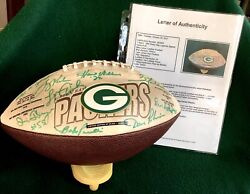 """Green Bay Packers-""""lombardi Titletown Legends""""- Signed Football 23 Sigs-loa"""