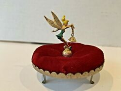 Vintage 1960and039s Tinkerbell Figure With Bell And Pincushion Walt Disney Prod.