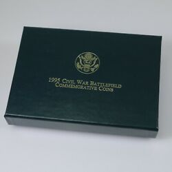 United States Mint 1995 Civil War Battlefield 6 Coin Set Gold And Silver Ogp