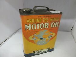 Vintage Advertising Around The World Motor Oil 2 Gallon Can Tin  Shop Ym-508