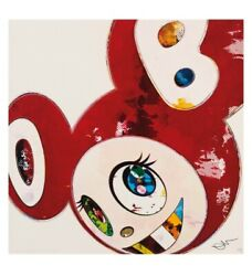 Takashi Murakami Limited Edition Print And Then X 6 Red Polke Method W Silver