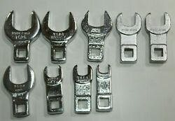Lot Of Assorted Open-end Crowfoot Wrench Bonney, Armstrong, Utica