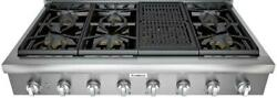 Thermador Professional Serie 48 6 Burner And Grill Led Lighting Rangetop Pcg486wl